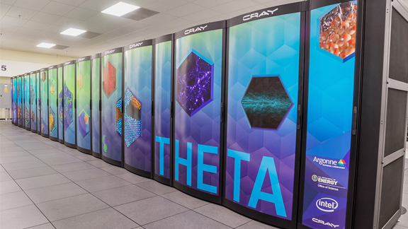 Theta, Argonne's most recent supercomputer, launched in July 2017.