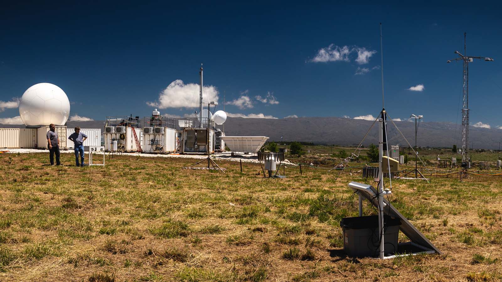 The ARM Climate Research Facility (Image courtesy of the U.S. Department of Energy Atmospheric Radiation Measurement (ARM) Research Facility, Jason Tomlinson.)