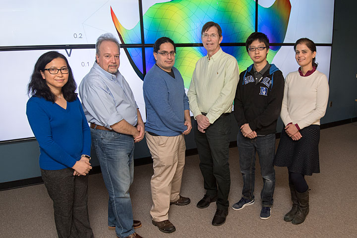 Brookhaven Lab's Computational Science Initiative recently formed a new Quantum Computing Group as one of the many ways it's expanding its efforts in quantum information science. The group members are (left to right) Meifeng Lin, Dimitrios Katramatos, Eden Figueroa, Michael McGuigan, Yao-Lung (Leo) Fang, and Layla Hormozi. Lin and Hormozi are co-leading the group.