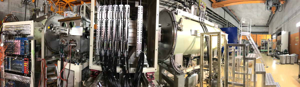This instrumentation at Japan's Radioactive Isotope Beam Factory in Wako, Japan, was used in an experiment to create an exotic magnesium isotope. (Credit: Heather Crawford/Berkeley Lab) )
