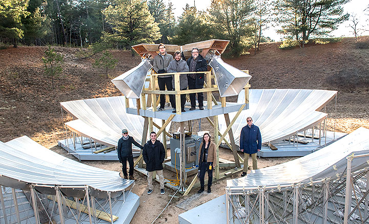Scientists at Brookhaven Lab are using a prototype radio telescope to look deep into the universe and gain a better understanding of its accelerated expansion and the nature of dark energy