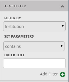 Maptive Text Filter