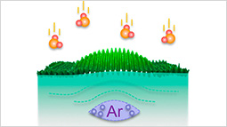 Controlling surface reactions with nanopatterned surface elastic strain.