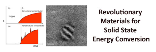 Revolutionary Materials for Solid State Energy Conversion (RMSSEC)