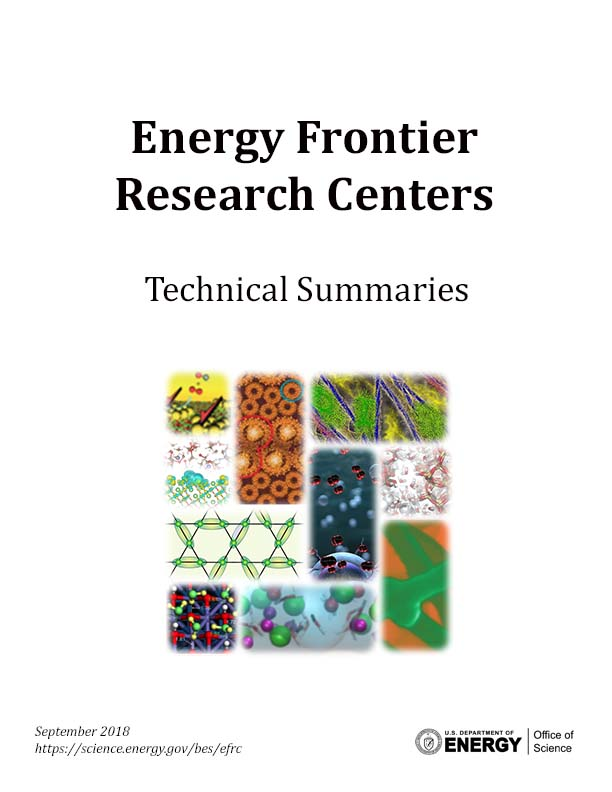 Energy Frontier Research Centers Technical Summaries Cover