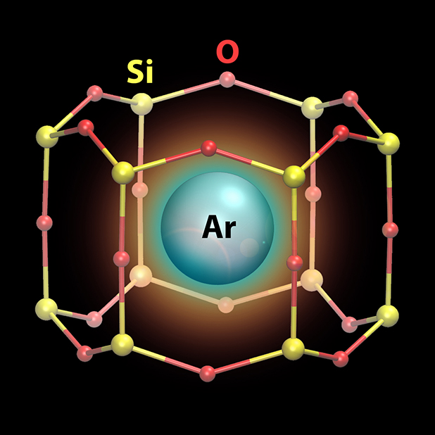 Single Atoms in Nano-Cages