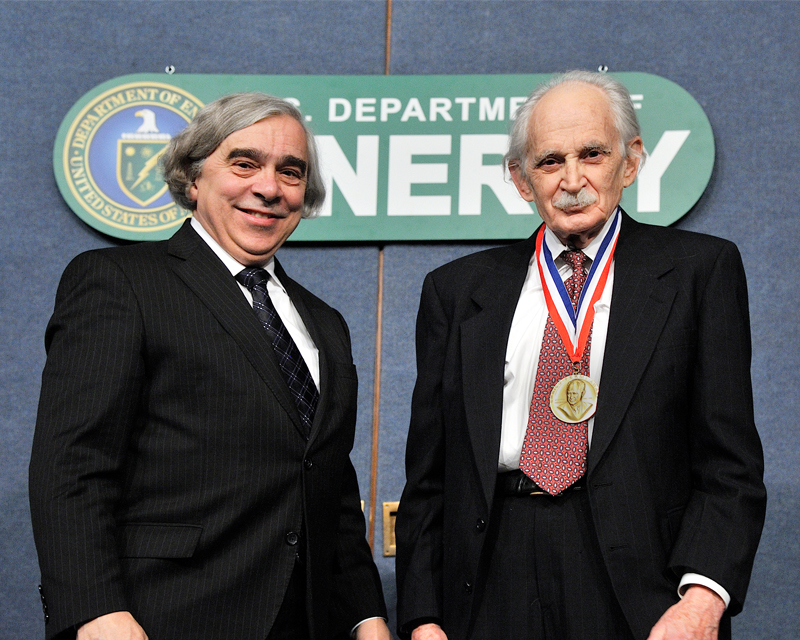 Professor Bard with Secretary Moniz