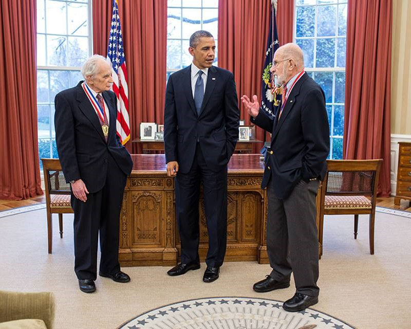 President Obama with Professor Bard (left) and Professor Sessler