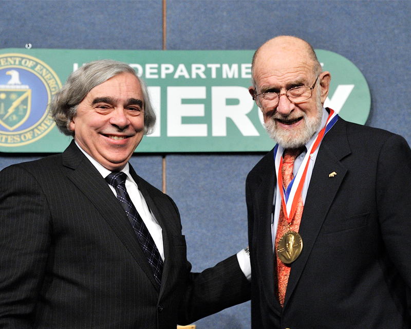 Professor Sessler with Secretary Moniz