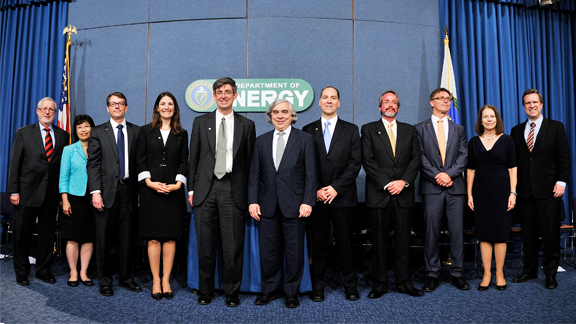 DOE Program Directors, DOE Secretary, and 2013 Lawrence Awardees
